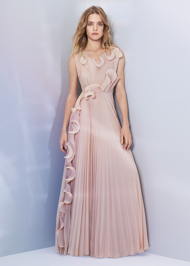 H&M Conscious Exclusive Pleated Long Dress $249