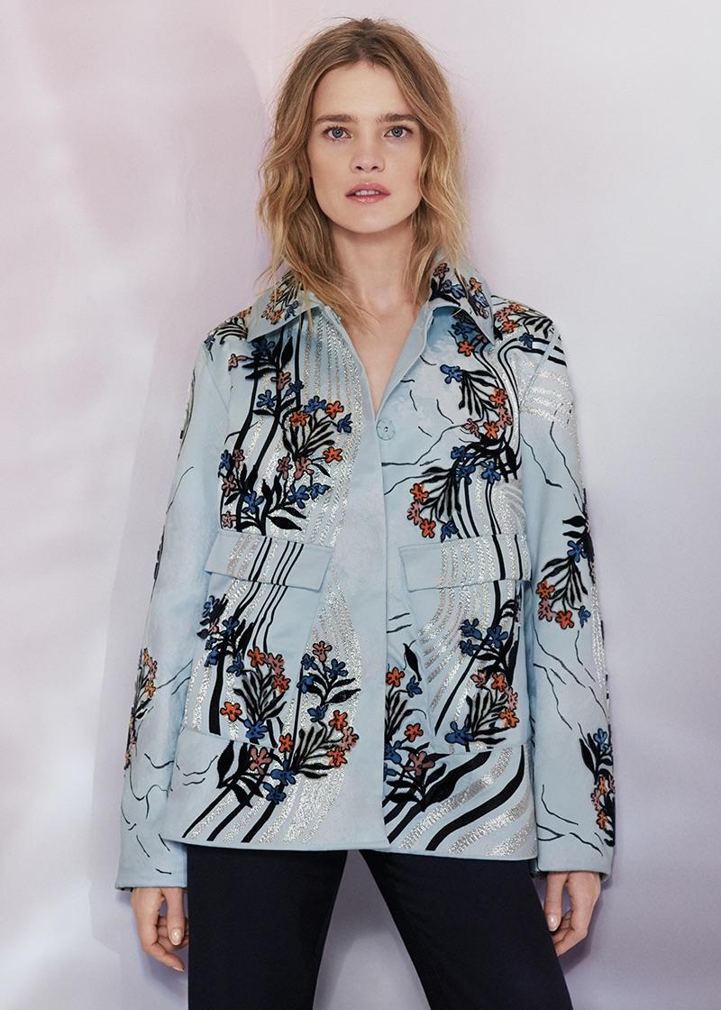 H&M Conscious Exclusive Jacquard-Weave Jacket $399 and Silk-Blend Flounced Pants $129