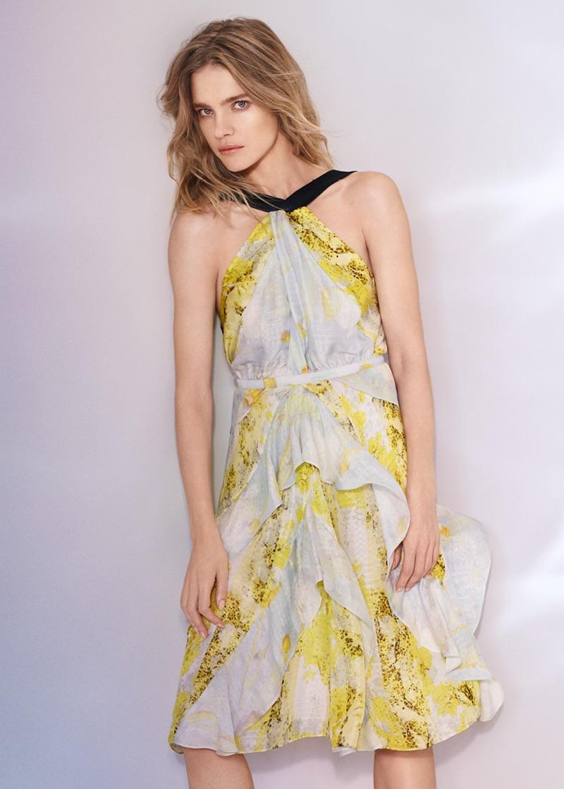H&M Conscious Exclusive Silk Chiffon Dress $149