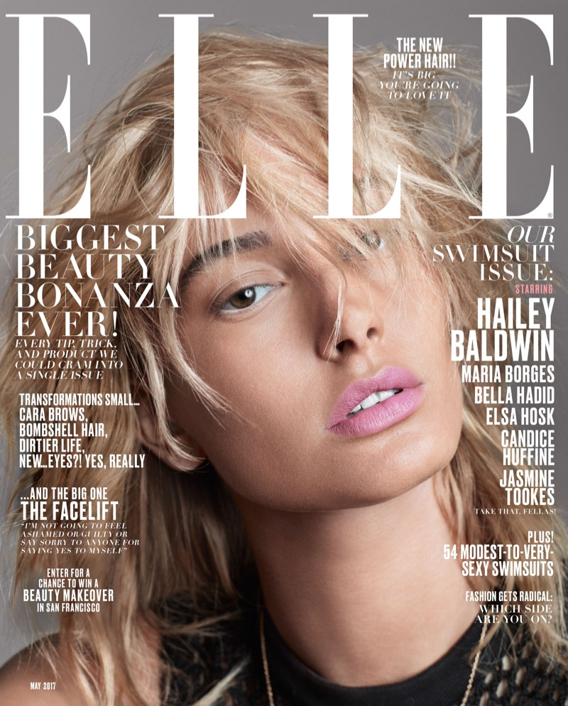 Hailey Baldwin on ELLE Magazine May 2017 Cover