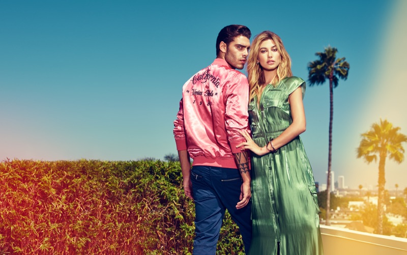 Hailey Baldwin and Stefano Sala star in Guess' spring-summer 2017 campaign
