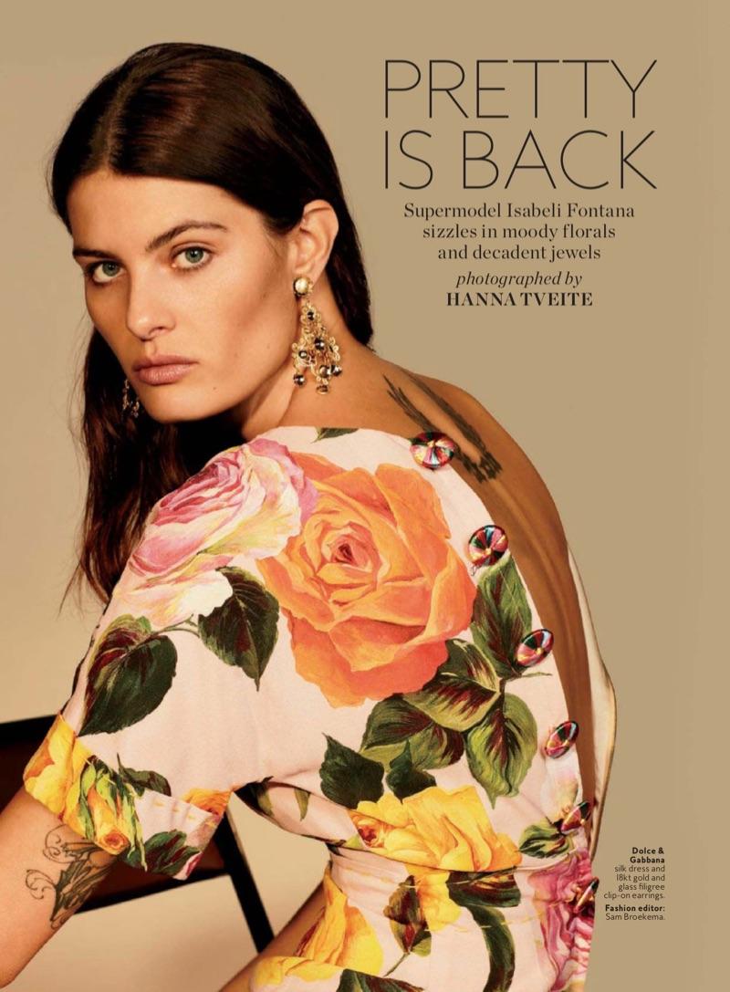 Isabeli Fontana estrela na edição de InStyle em março