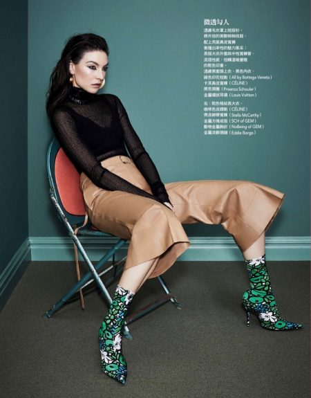 Jacquelyn Jablonski Models Bold Looks for Vogue Taiwan