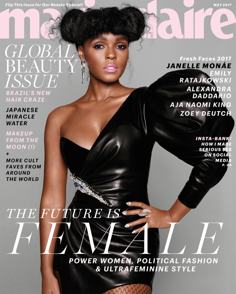 Janelle Monae on Marie Claire May 2017 Cover