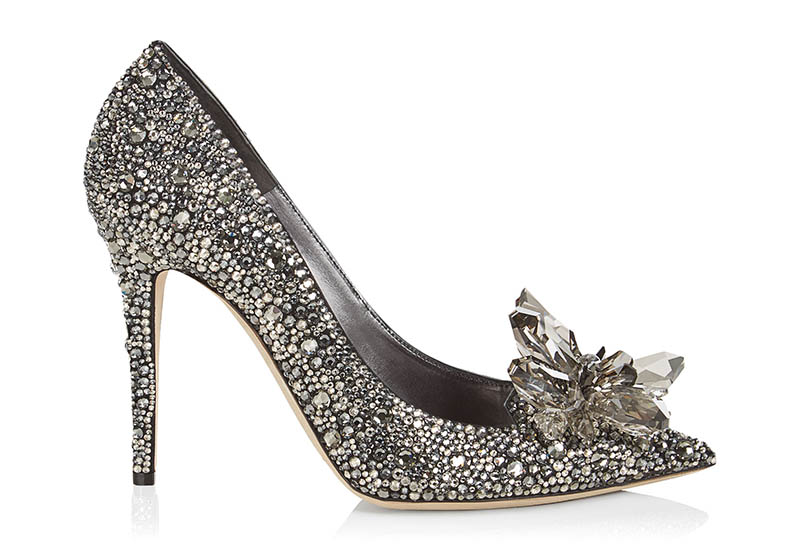 Jimmy Choo Avril Black Crystal Covered Pointy Toe Pumps $4,595