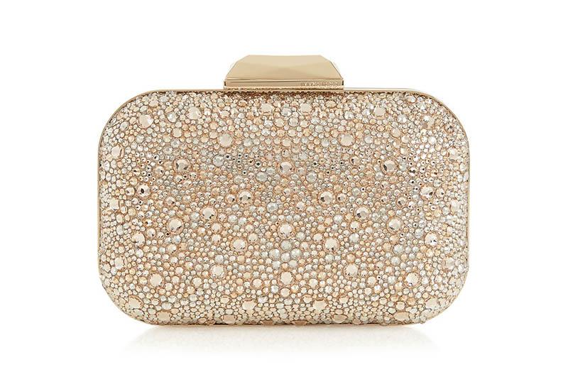 Jimmy Choo Cloud Golden Mix Crystal Covered Clutch Bag $3,095