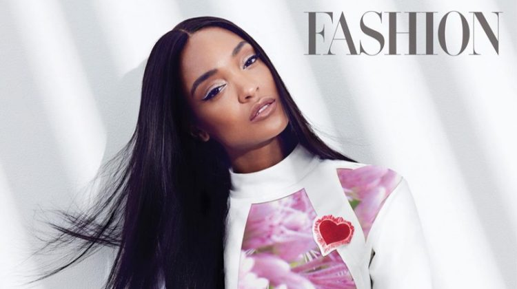 Jourdan Dunn strikes a pose in Dior jacket, top and pants