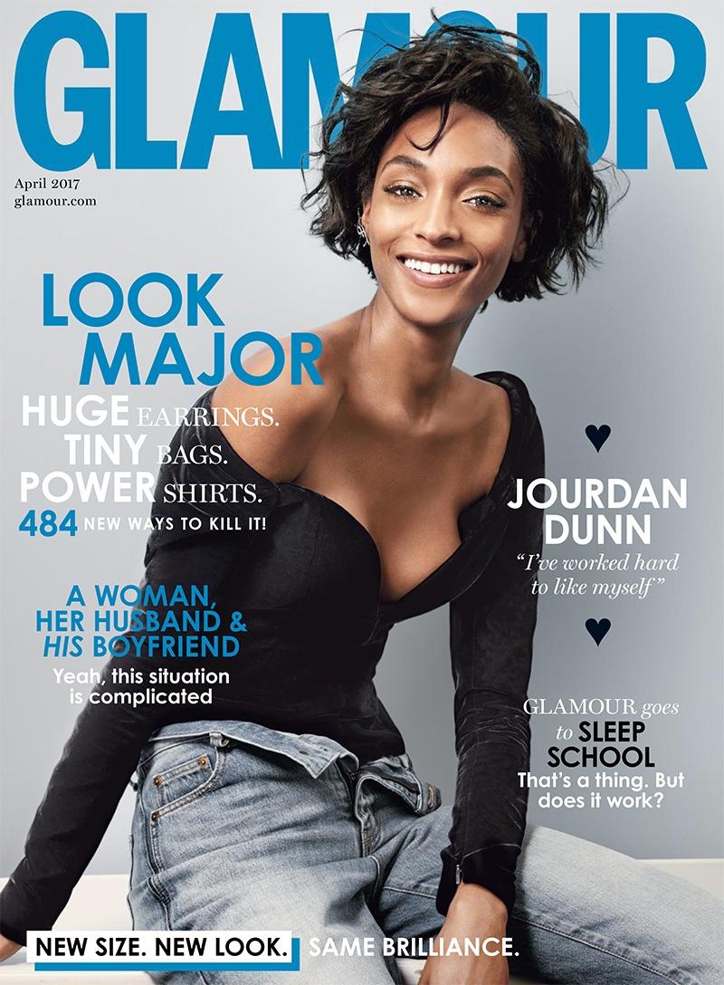 Jourdan Dunn on Glamour UK April 2017 Cover