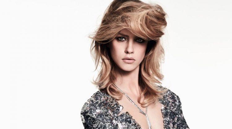 Julia Frauche Dazzles in Chanel Haute Couture for Harper's Bazaar China