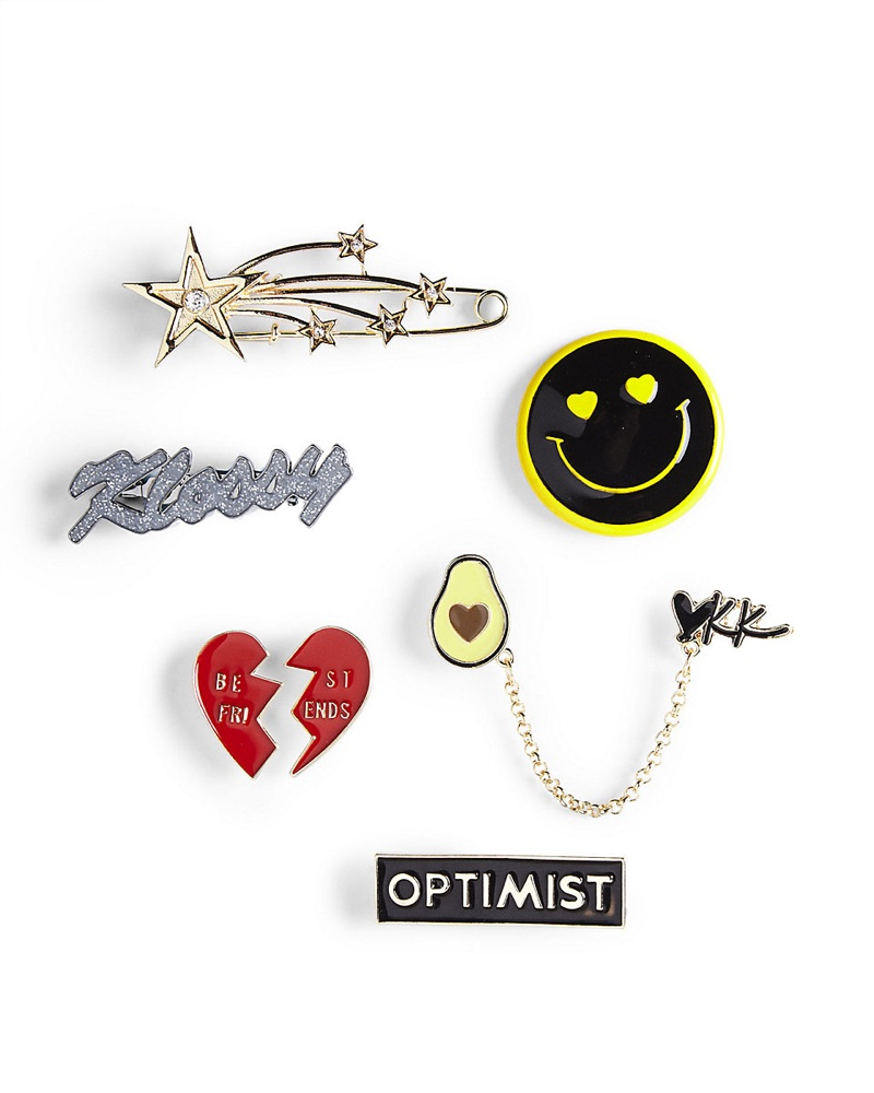 Karlie Kloss for Express Heart and Smiley Face Pin Set $29.90