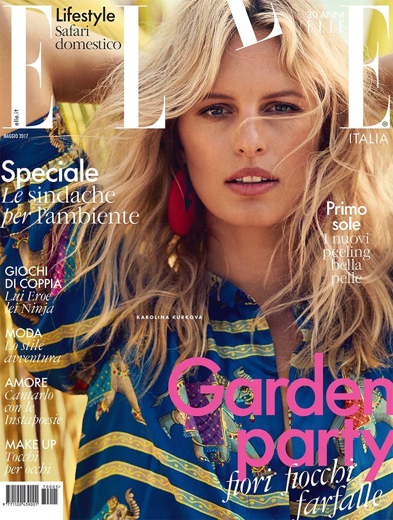 Karolina Kurkova on ELLE Italy May 2017 Cover