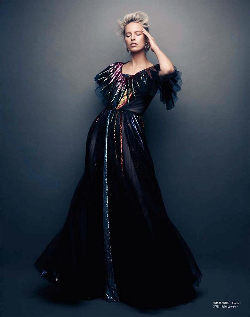Karolina Kurkova shines in Gucci gown