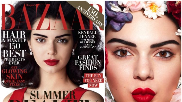 Kendall Jenner Turns Up the Glam Factor for Harper's Bazaar Cover Story