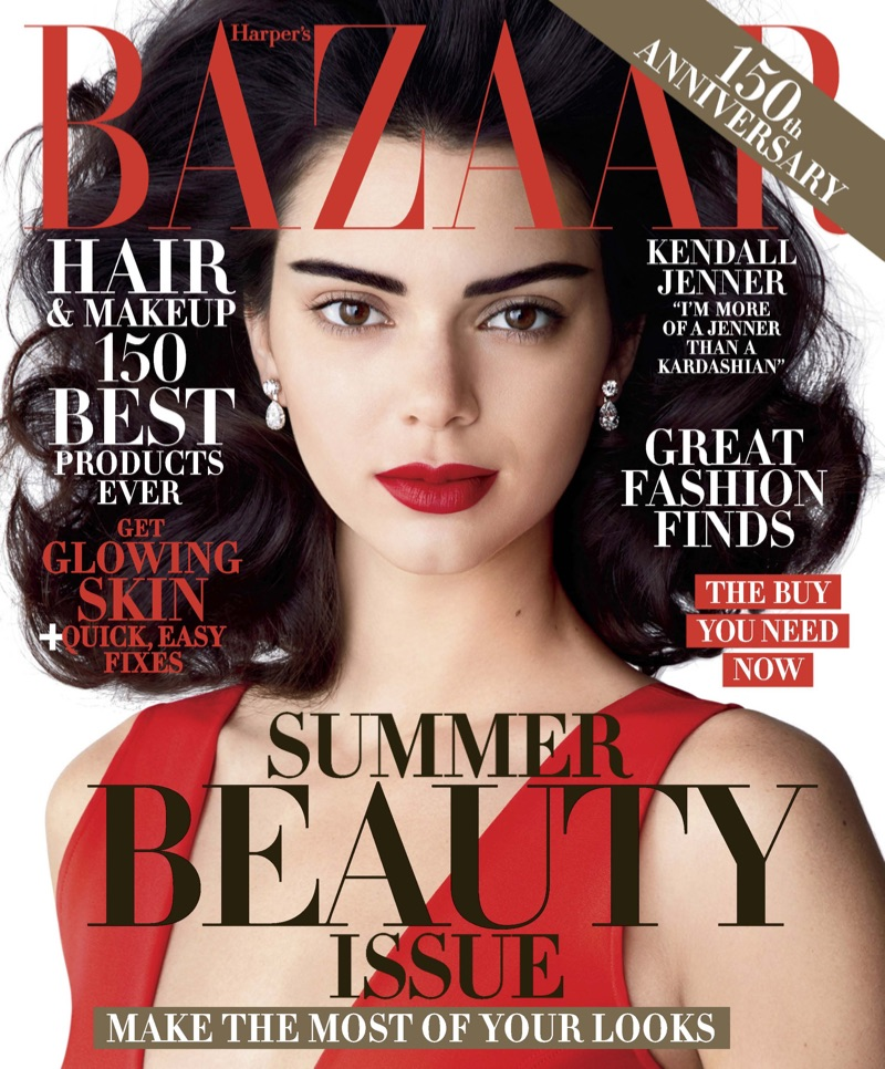 Kendall Jenner on Harper's Bazaar May 2017 Cover