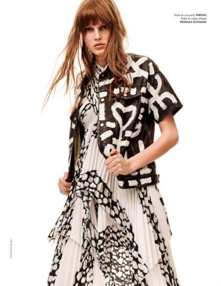 Lilly-Marie Liegau Models Black & White Styles for ELLE France