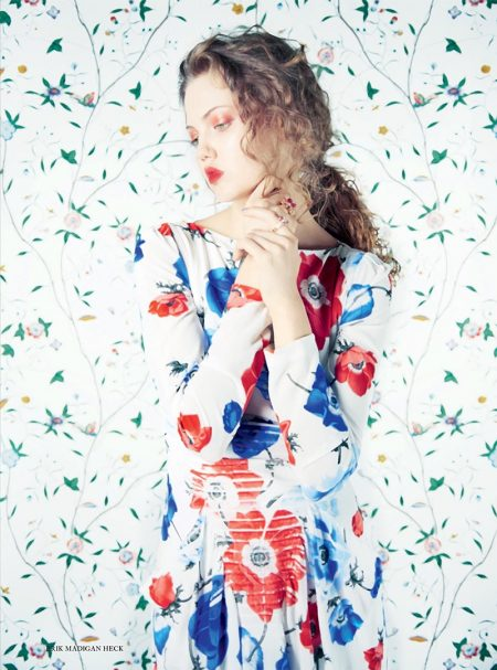 Lindsey Wixson Poses in Dreamy Dresses for Harper's Bazaar UK