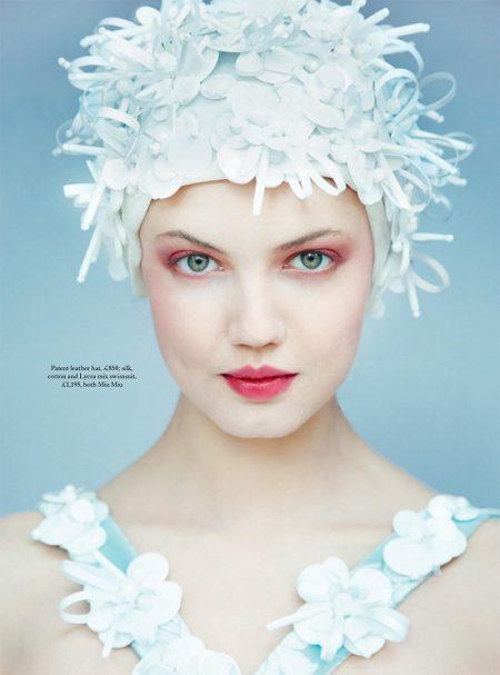 Lindsey Wixson Poses in Dreamy Dresses for Harper's Bazaar UK