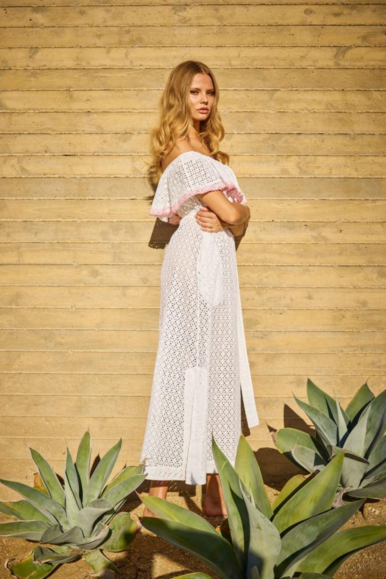 Eyelet Mira flounce dress from Lisa Marie Fernandez's spring-summer 2017 collection