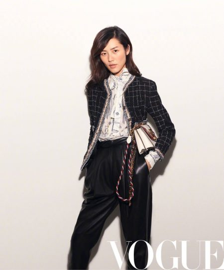 Liu Wen Takes On the Spring Collections for Vogue China