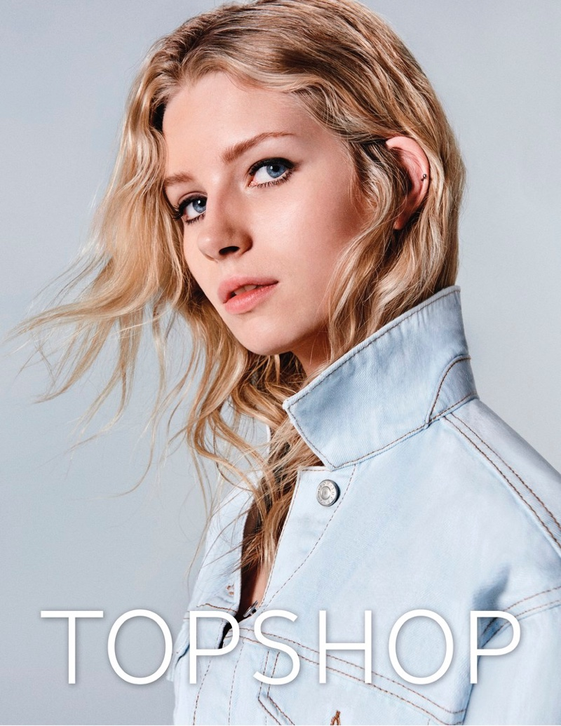 Lottie Moss gets her closeup in Topshop Jeans' spring-summer 2017 campaign