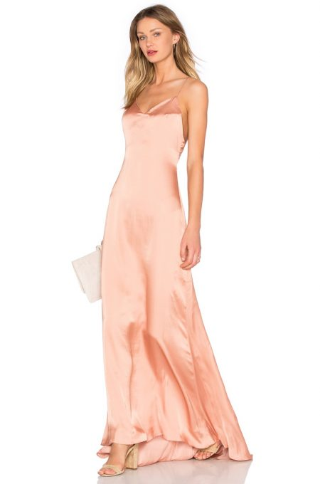 The Slip Dress also comes in a peachy hue