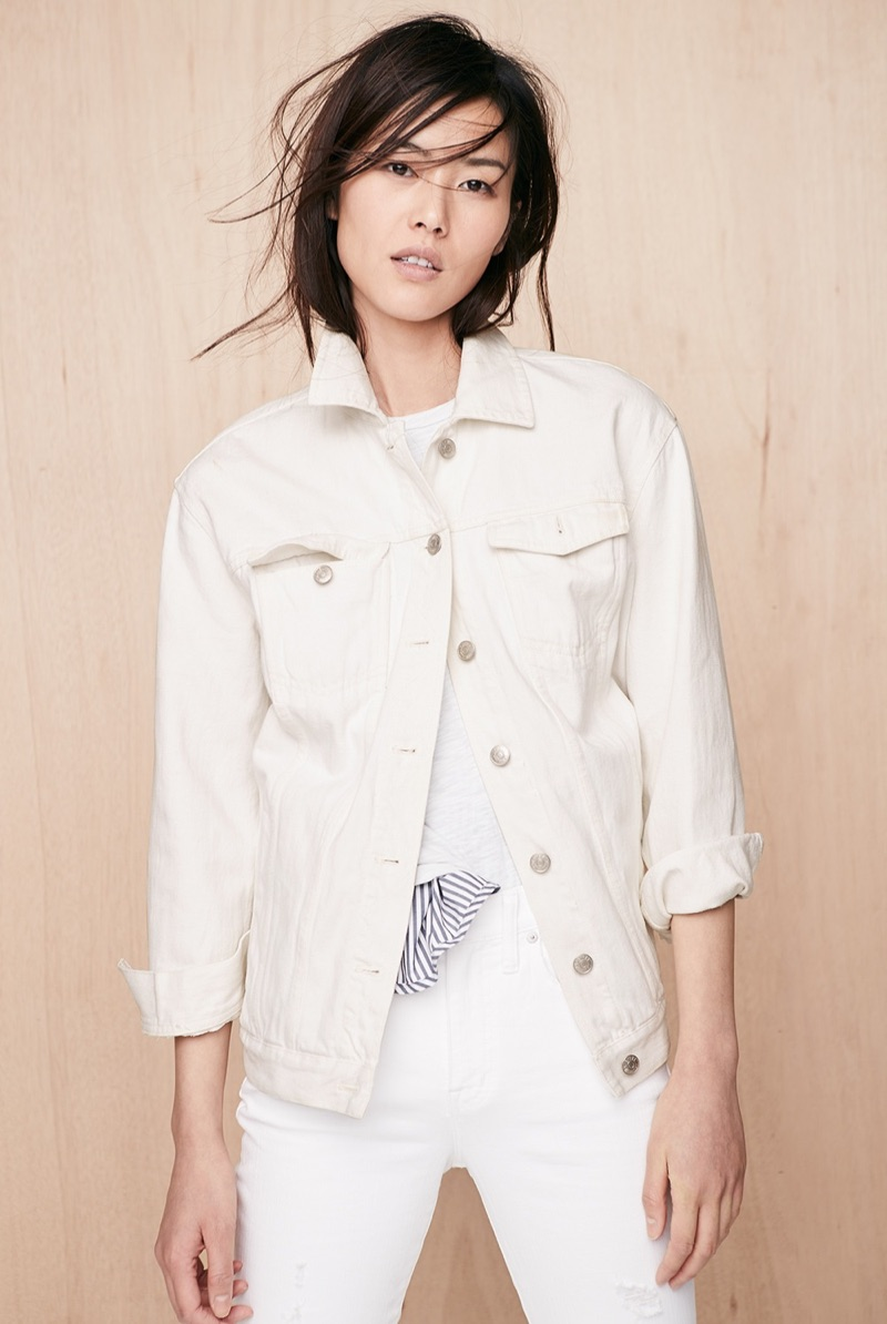 Liu Wen Models Madewell's Chic & Easy Spring Styles