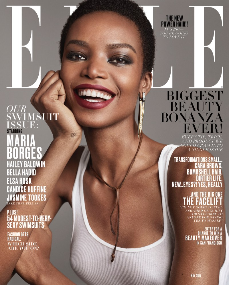 Maria Borges on ELLE Magazine May 2017 Cover