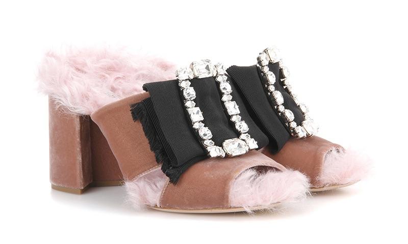 Miu Miu Embellished Open-Toe Sandals $990