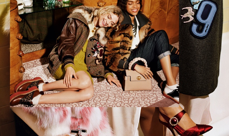 An image from Miu Miu's pre-fall 2017 advertising campaign