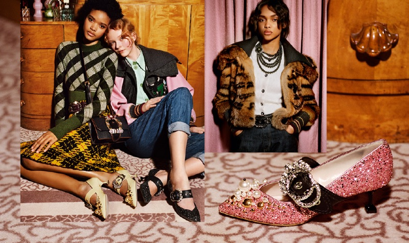 Luxe furs stand out in Miu Miu's pre-fall 2017 campaign