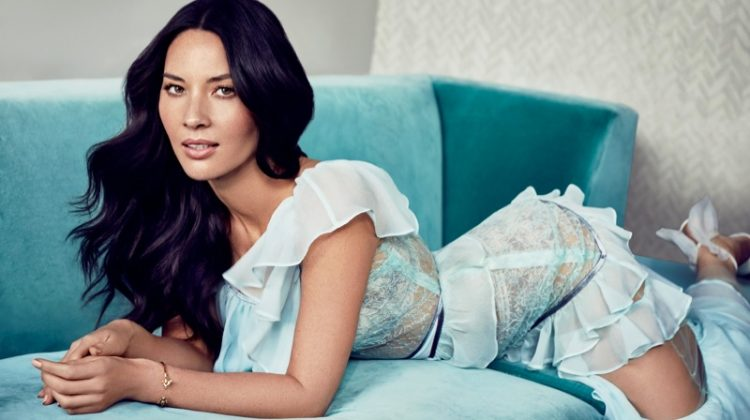 Olivia Munn poses in Death by Dolls dress, Fernando Rodriguez bracelet and Christian Louboutin heels