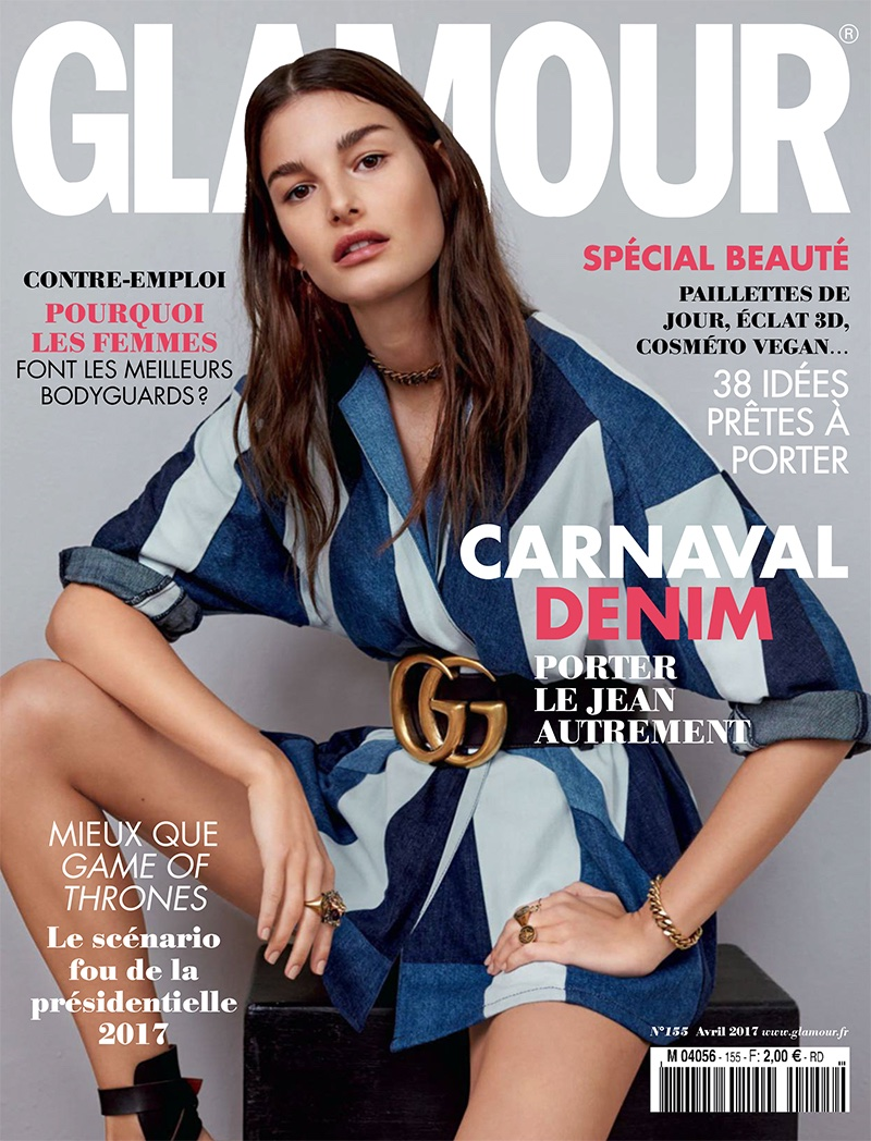 Ophelie Guillermand on Glamour France April 2017 Cover