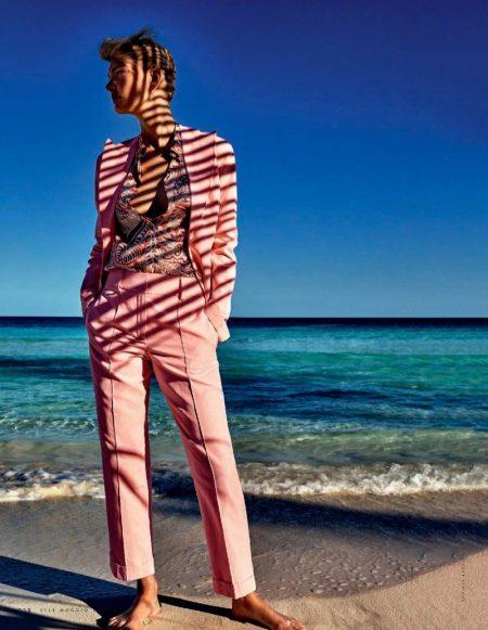 Patricia van der Vliet Looks Pretty in Pink for ELLE Italy