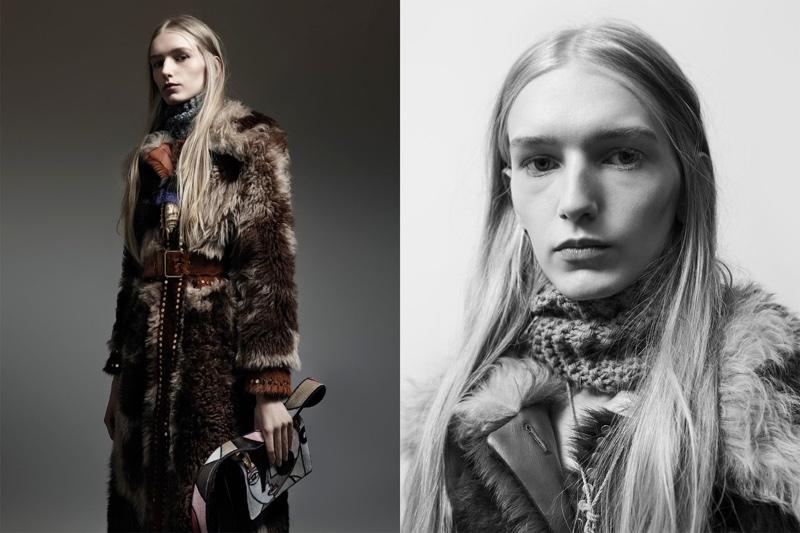 Mia Brenner stars in Prada's pre-fall 2017 campaign