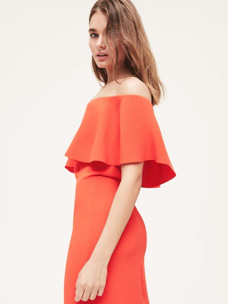 REISS Off-the-Shoulder Dress $340