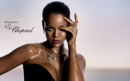 Rihanna poses for Rihanna Loves Chopard jewelry campaign