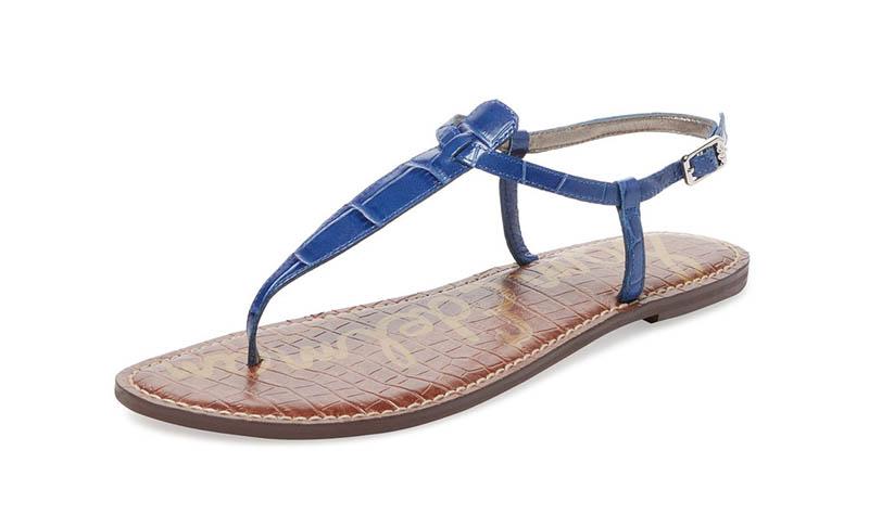 Sam Edelman Gigi Embossed Leather Thong Sandal $60