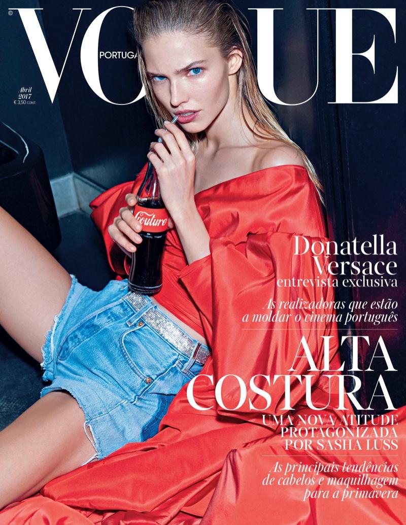 Sasha Luss on Vogue Portugal April 2017 Cover