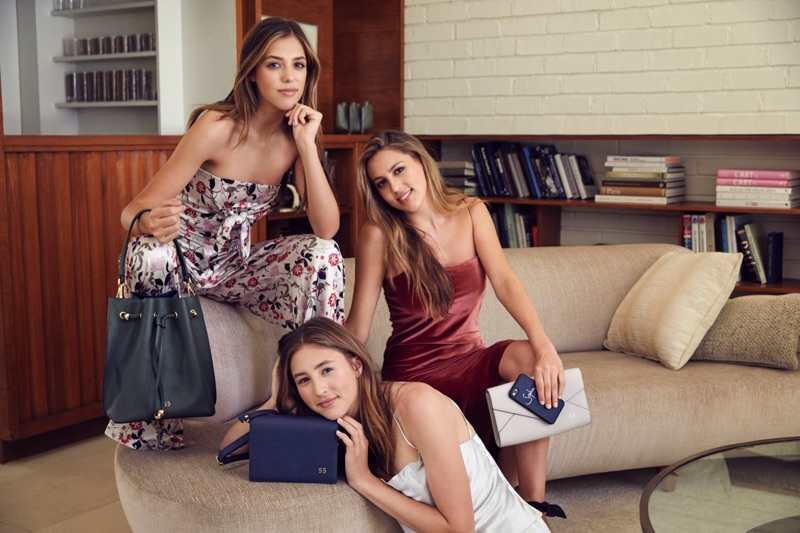 The daughters of Sylvester Stallone, Sophia, Sistine and Scarlet, appear in The Daily Edited campaign