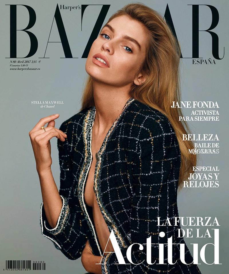 Stella Maxwell on Harper's Bazaar Spain April 2017 Cover