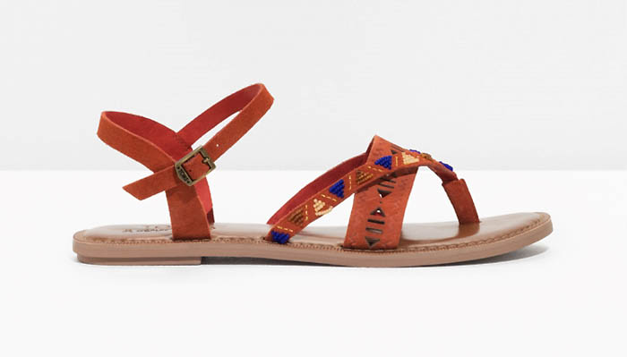 TOMS x & Other Stories Suede Beaded Lexie Sandals $90