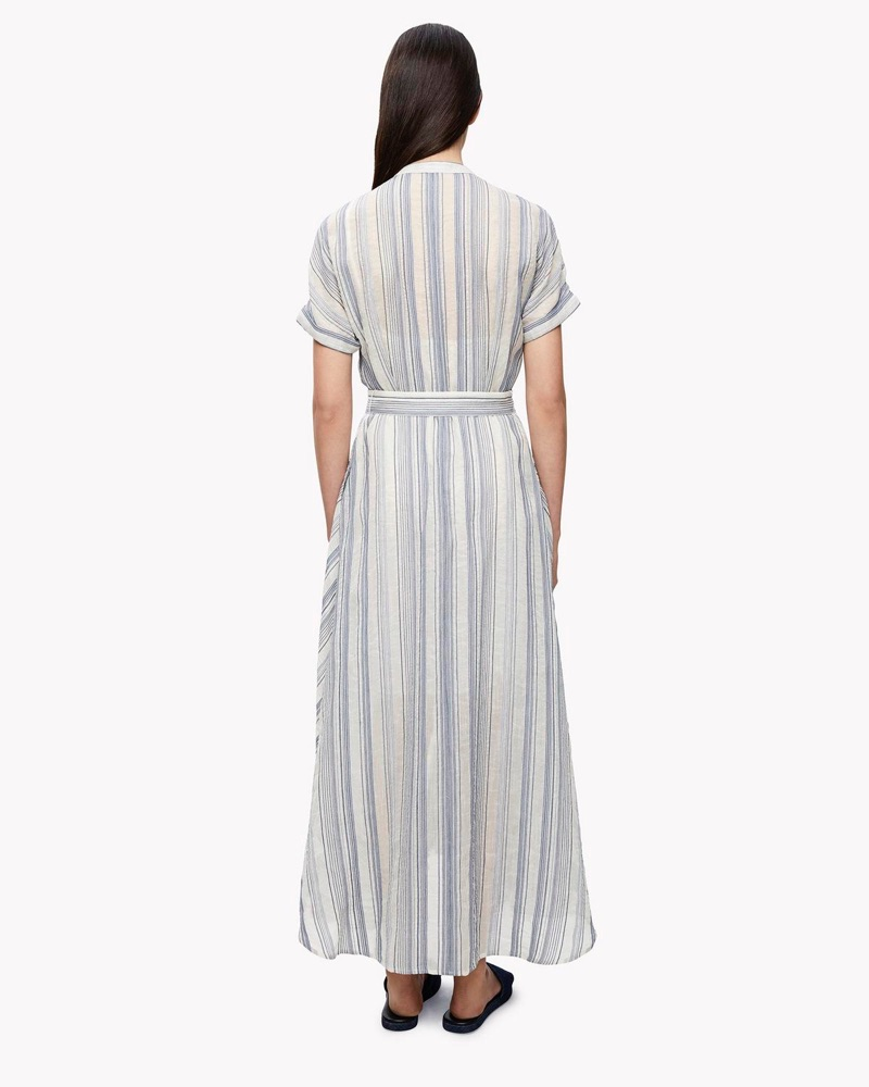 Theory's silk-cotton dress features a relaxed silhouette