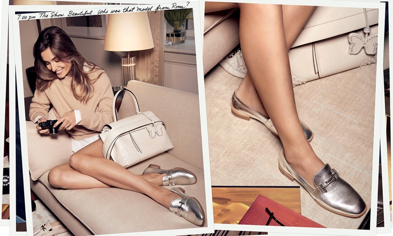 Andreea Diaconu stars in Tod's spring-summer 2017 campaign