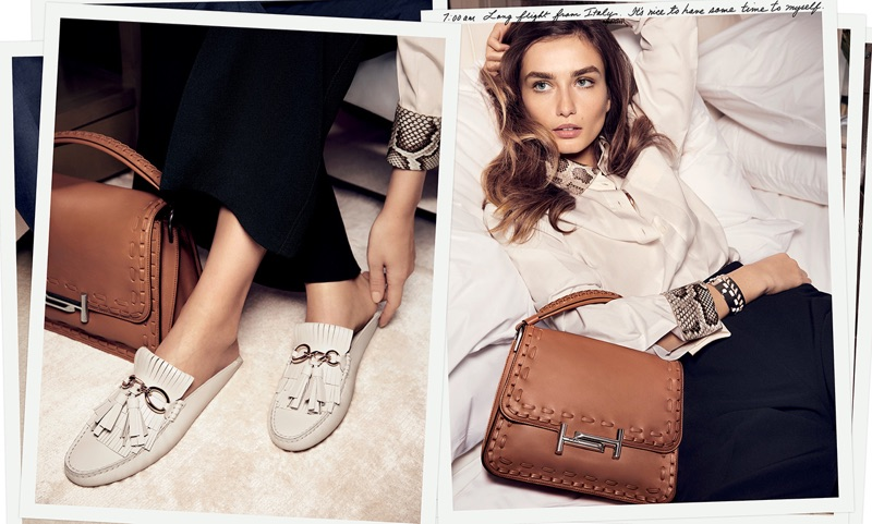 Andreea Diaconu Stars in Tod's Spring 2017 Campaign