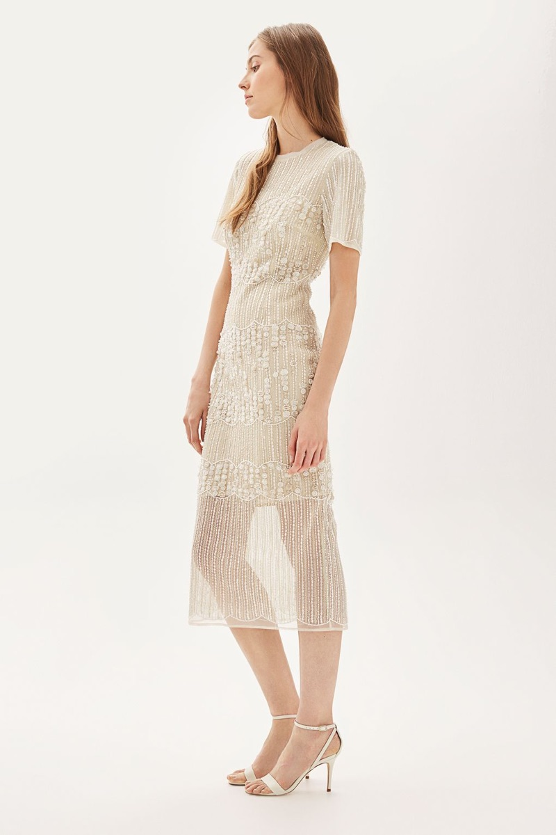 Topshop Bride Embellished Pencil Midi Dress $1,500