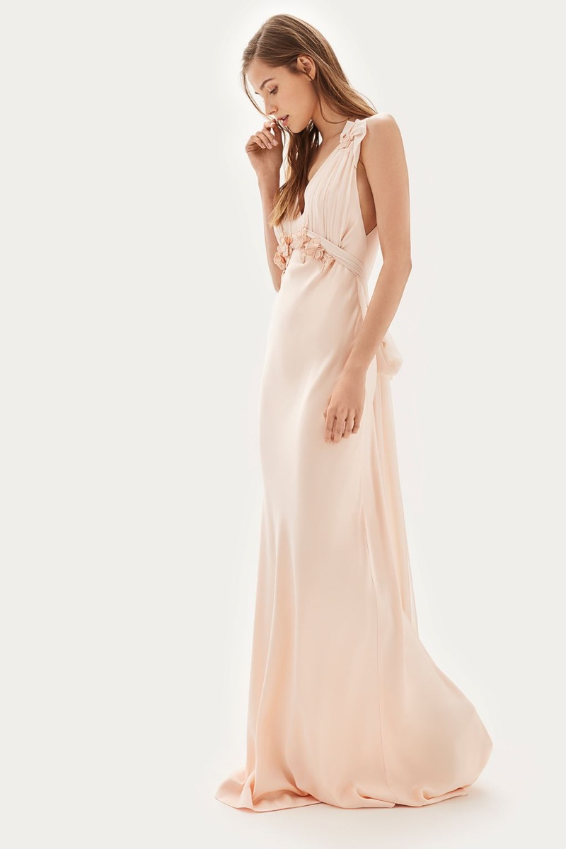 Topshop Bride Embroidered Applique Maxi Bridal Dress $750