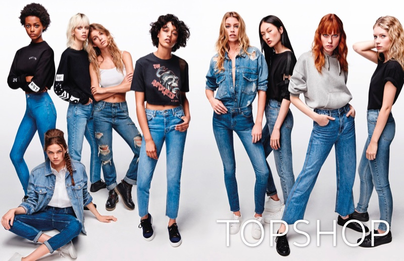 Topshop Jeans taps top models for its spring-summer 2017 campaign