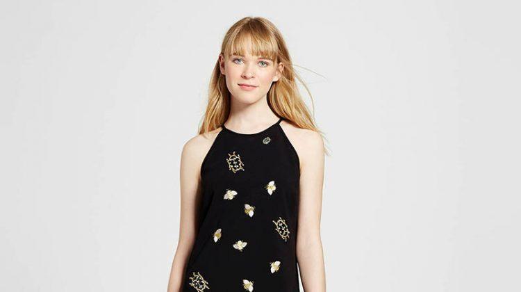 Victoria Beckham for Target Black Embellished Bug Dress $60