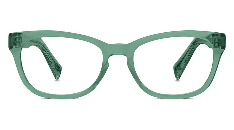 Warby Parker Finch Glasses in Juniper Green $95