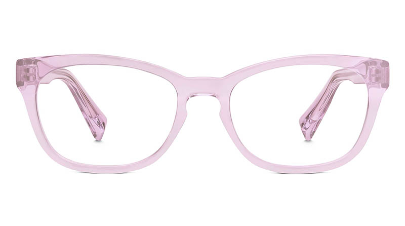 Warby Parker Finch Crystal Glasses in Lilac $95